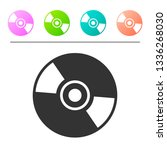 grey cd or dvd disk icon... | Shutterstock .eps vector #1336268030