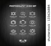 photography icon set | Shutterstock .eps vector #133626884