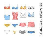 lingerie icons set in flat... | Shutterstock .eps vector #1336272176