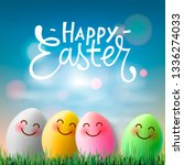 happy easter  colorful easter... | Shutterstock .eps vector #1336274033