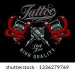 vintage vector illustration of... | Shutterstock .eps vector #1336279769