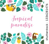 Tropical Greeting Card With...