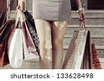 Female Hands Holding A Shoppin...