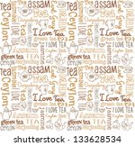 seamless vector pattern with... | Shutterstock .eps vector #133628534