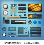 ui elements design black  web...