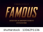 condensed uppercase letters and ... | Shutterstock .eps vector #1336291136