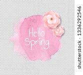 banner blob with flowers...   Shutterstock . vector #1336292546