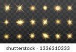 glow isolated yellow light... | Shutterstock .eps vector #1336310333