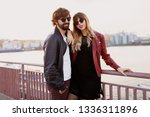 stylish attractive man with... | Shutterstock . vector #1336311896