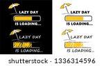 happy lazy day world sleep day... | Shutterstock .eps vector #1336314596