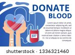 donate blood and health care...   Shutterstock .eps vector #1336321460