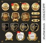 luxury premium golden badges... | Shutterstock .eps vector #1336325399
