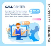 call center support operator... | Shutterstock .eps vector #1336327403
