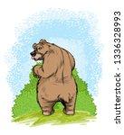 vector illustration of a bear... | Shutterstock .eps vector #1336328993