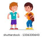 naughty preschool kid holding... | Shutterstock .eps vector #1336330643