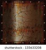 vector blackboard metal rusty... | Shutterstock .eps vector #133633208