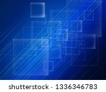 blue technical background with... | Shutterstock . vector #1336346783