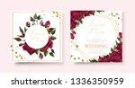 wedding floral golden... | Shutterstock .eps vector #1336350959