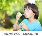 portrait of cute little kid...   Shutterstock . vector #133636820