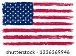 usa flag in grunge style | Shutterstock .eps vector #1336369946