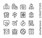 travel line icons set. modern... | Shutterstock .eps vector #1336372103