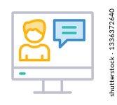 user profile  message   | Shutterstock .eps vector #1336372640