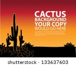 cactus background. eps 8 vector ... | Shutterstock .eps vector #133637603