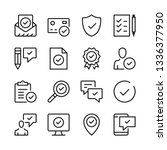 approve line icons set. check... | Shutterstock .eps vector #1336377950