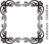 silhouette of ornamental frame | Shutterstock .eps vector #133638146