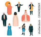 opera singers set  male and...   Shutterstock .eps vector #1336382069