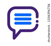 monoline message icon | Shutterstock .eps vector #1336396736