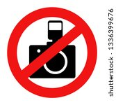 not allowed to take pictures ... | Shutterstock .eps vector #1336399676