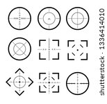 different icon set of targets... | Shutterstock .eps vector #1336414010