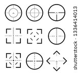 different icon set of targets... | Shutterstock .eps vector #1336414013