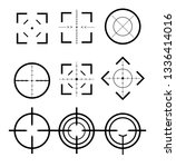 different icon set of targets... | Shutterstock .eps vector #1336414016