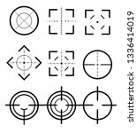 different icon set of targets... | Shutterstock .eps vector #1336414019