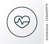 heartbeat icon line symbol.... | Shutterstock . vector #1336429979