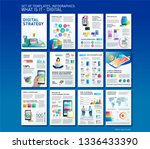 big infographics in flat style. ... | Shutterstock .eps vector #1336433390