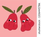 cute water apple character | Shutterstock .eps vector #1336445786