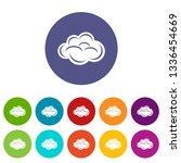 internet cloud icons color set...