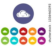 art cloud icons color set...