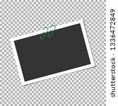 photo frame  vector with pin ... | Shutterstock .eps vector #1336472849
