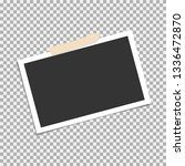 photo frame  vector with... | Shutterstock .eps vector #1336472870