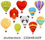hot air balloon concept. vector ... | Shutterstock .eps vector #1336481609