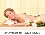 woman relaxing in a spa | Shutterstock . vector #133648238