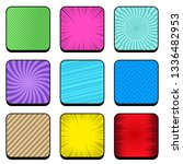 comic colorful rounded squares... | Shutterstock .eps vector #1336482953