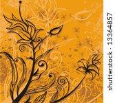 grunge floral design  vector...   Shutterstock .eps vector #13364857
