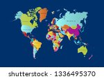 color world map vector | Shutterstock .eps vector #1336495370