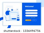 login ui ux design concept and... | Shutterstock .eps vector #1336496756