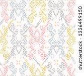 embroidery sashiko style....   Shutterstock .eps vector #1336499150